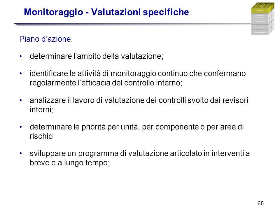 Monitoraggio - Valutazioni specifiche