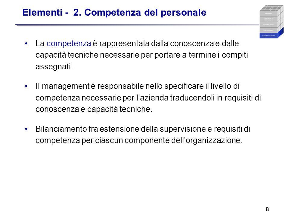 Elementi - 2. Competenza del personale