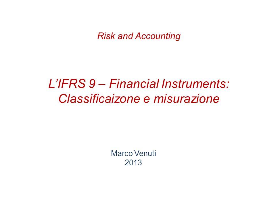 L'IFRS 9 – Financial Instruments: Classificaizone e misurazione