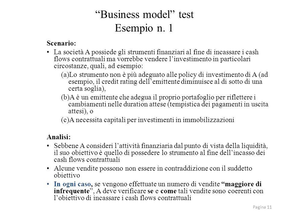 Business model test Esempio n. 1