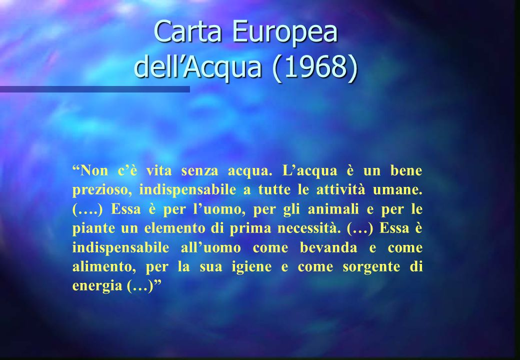 Carta Europea dell'Acqua (1968)