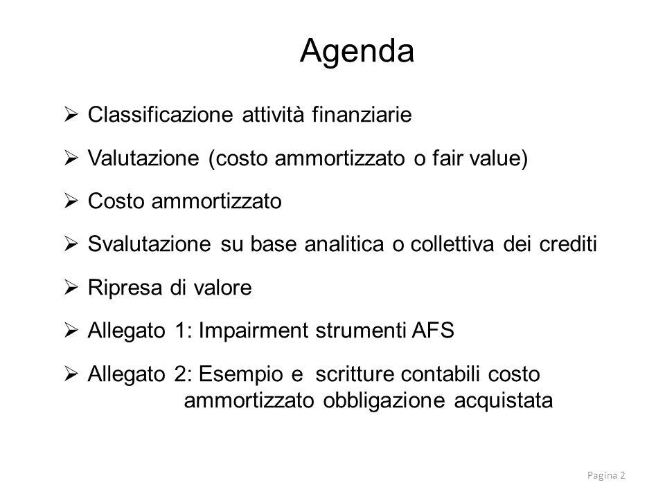 Agenda Classificazione attività finanziarie