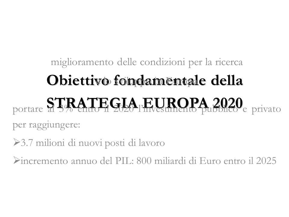 Obiettivo fondamentale della STRATEGIA EUROPA 2020