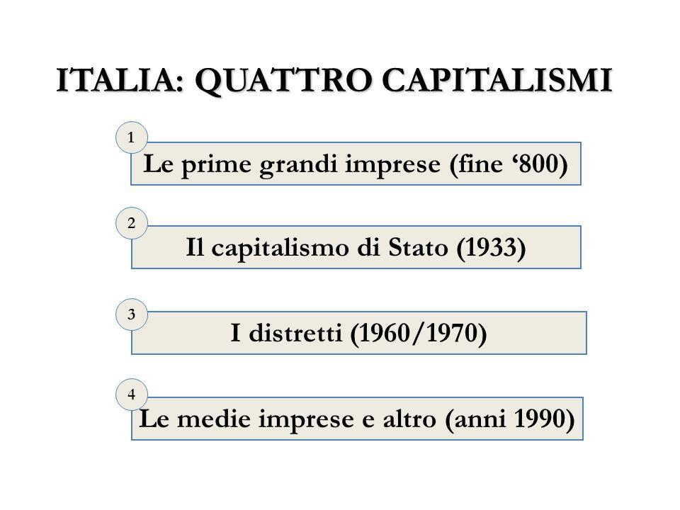 ITALIA: QUATTRO CAPITALISMI