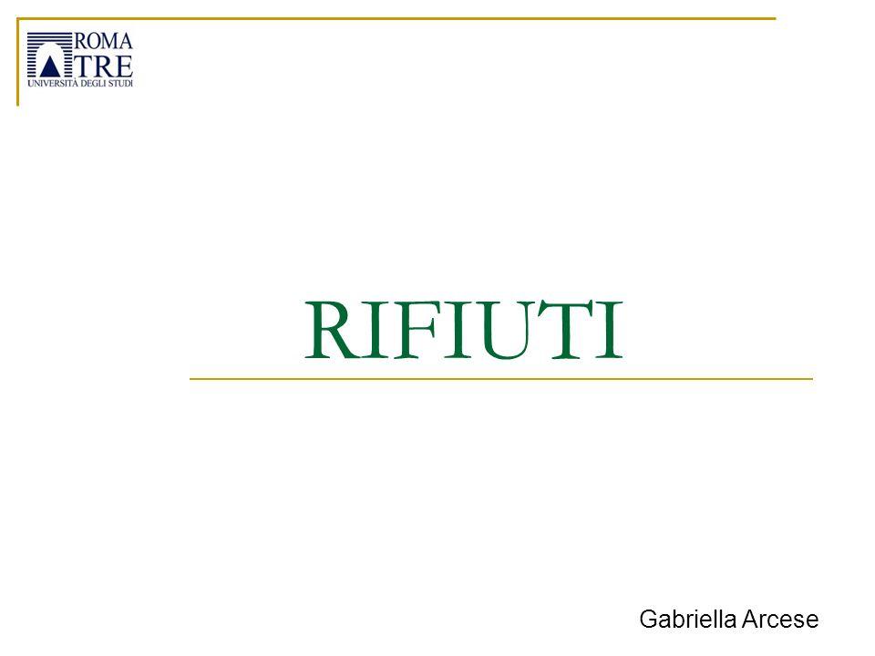 RIFIUTI Gabriella Arcese