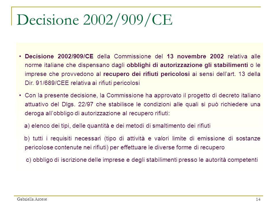 Decisione 2002/909/CE