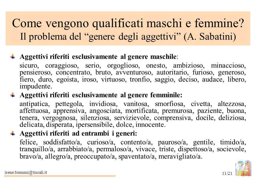 Come vengono qualificati maschi e femmine