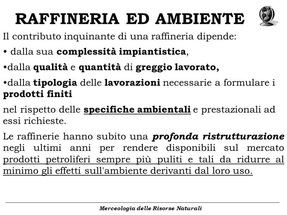 RAFFINERIA ED AMBIENTE