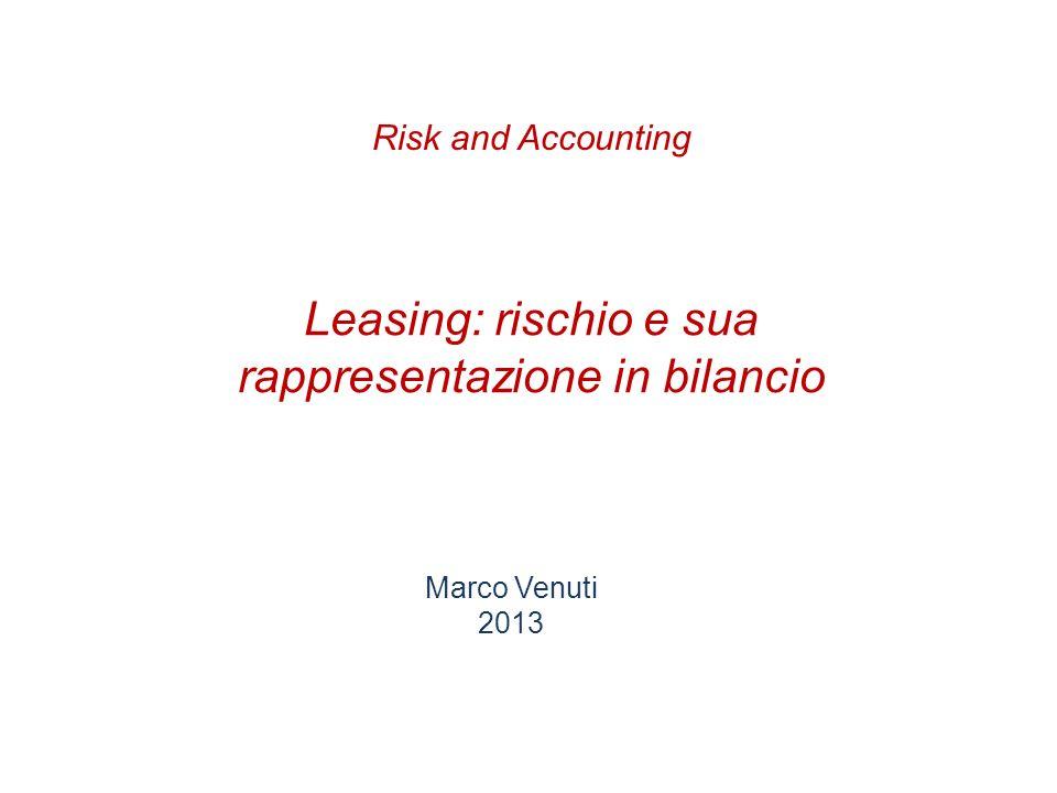 Leasing: rischio e sua rappresentazione in bilancio