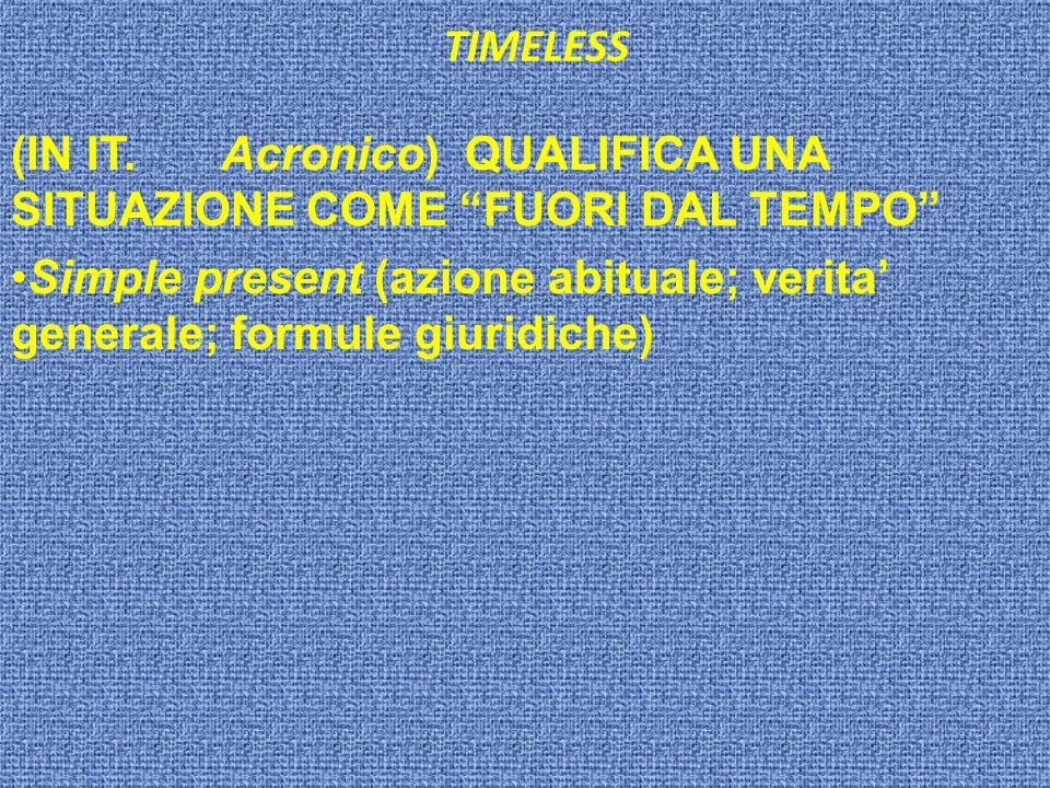 TIMELESS (IN IT.
