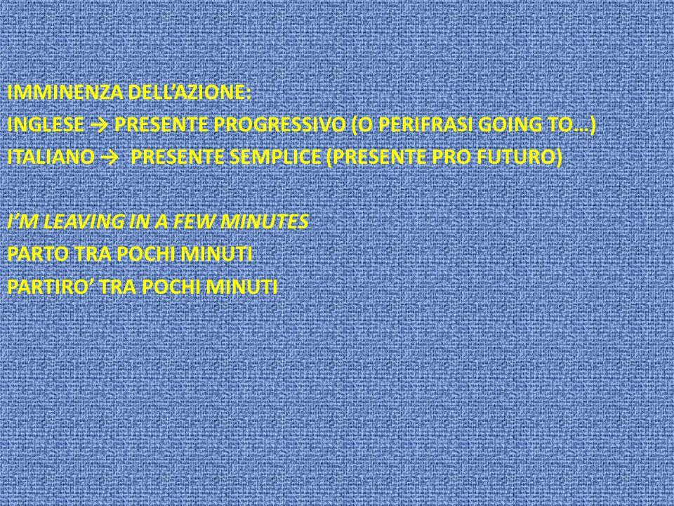 IMMINENZA DELL'AZIONE: