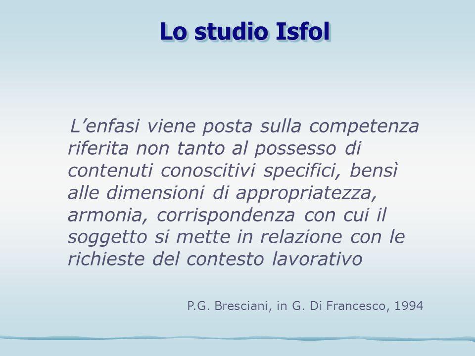 Lo studio Isfol