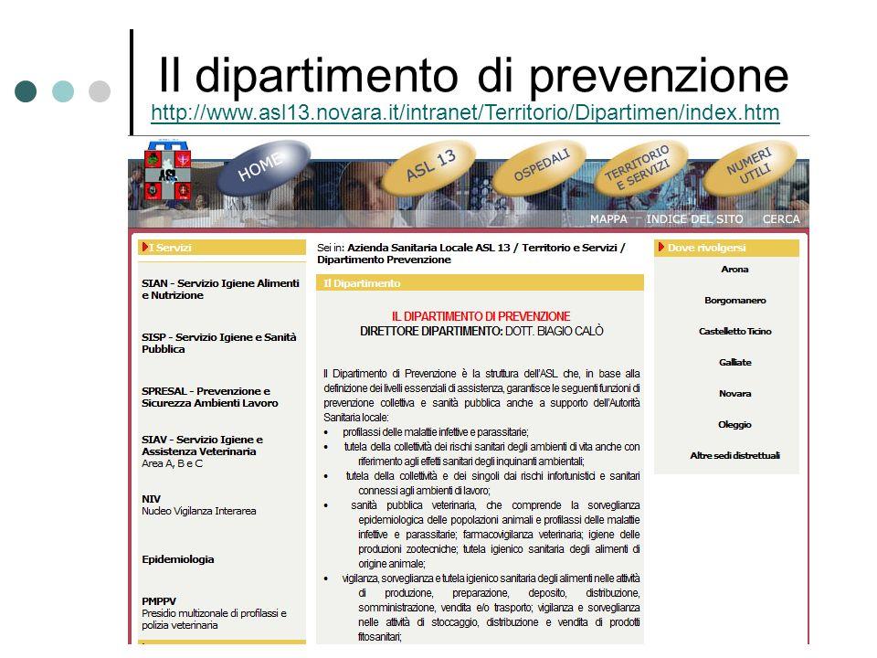 Il dipartimento di prevenzione