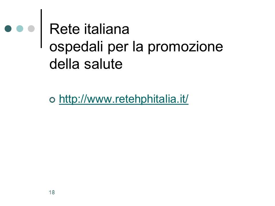Rete italiana ospedali per la promozione della salute