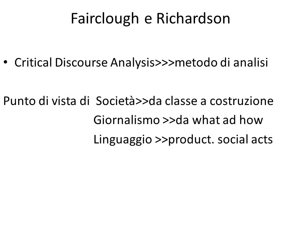 Fairclough e Richardson