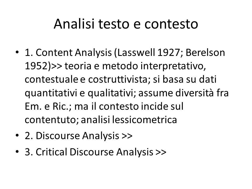 Analisi testo e contesto