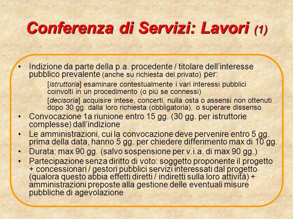 Conferenza di Servizi: Lavori (1)