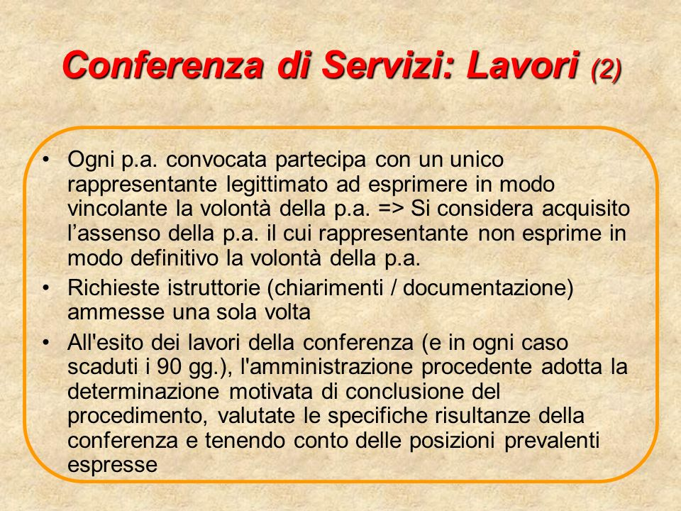 Conferenza di Servizi: Lavori (2)
