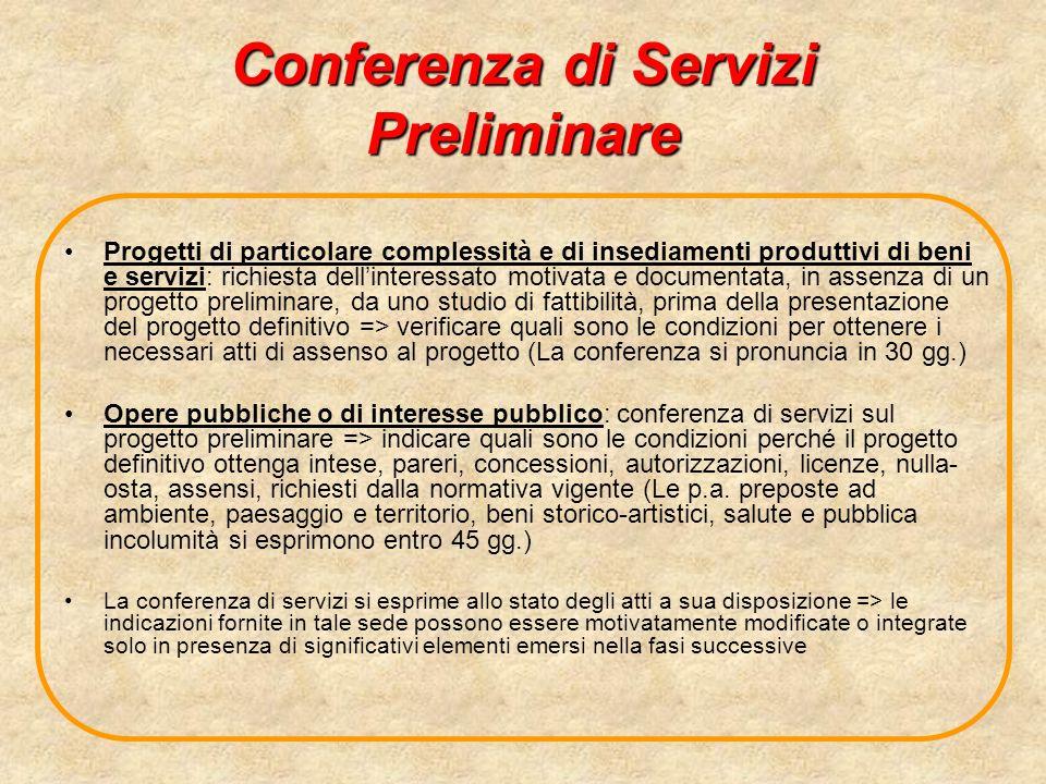 Conferenza di Servizi Preliminare