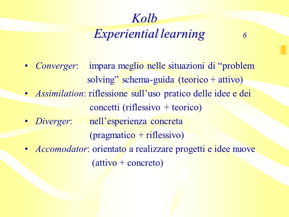 Kolb Experiential learning 6