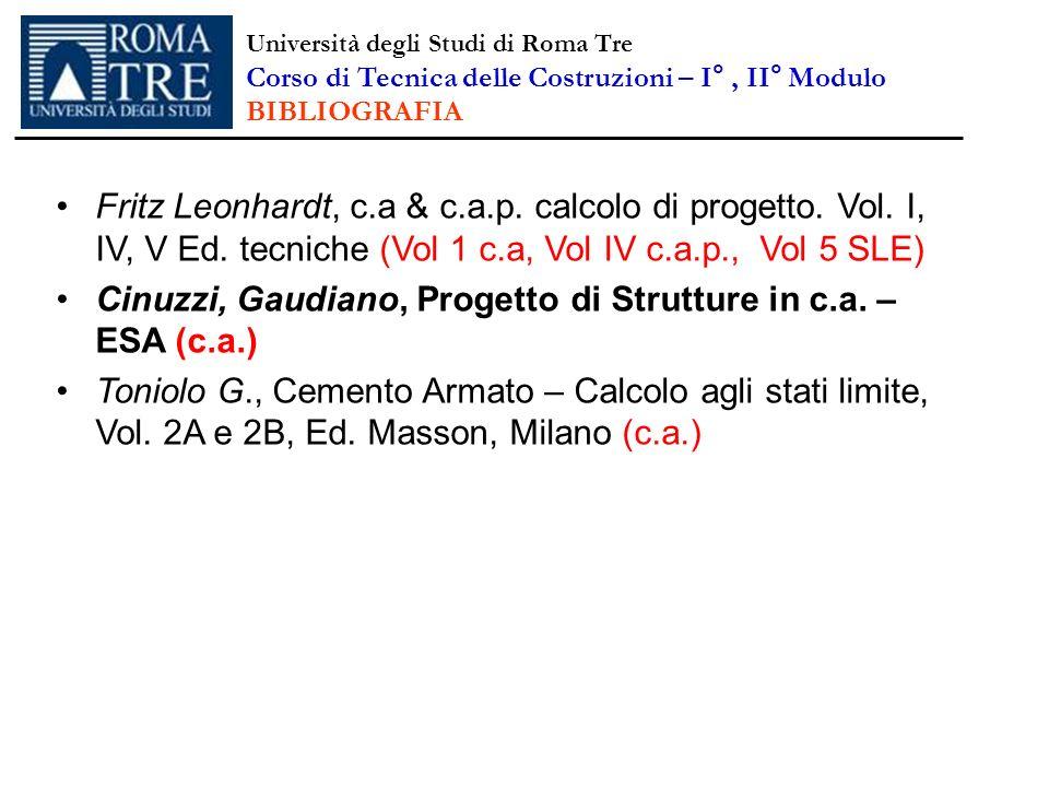 Cinuzzi, Gaudiano, Progetto di Strutture in c.a. – ESA (c.a.)