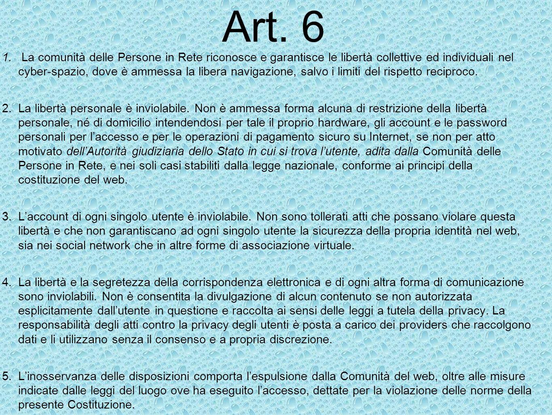 Art. 6 Proposta di Linda Bardelli
