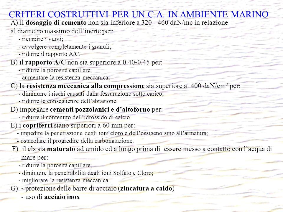 CRITERI COSTRUTTIVI PER UN C.A. IN AMBIENTE MARINO