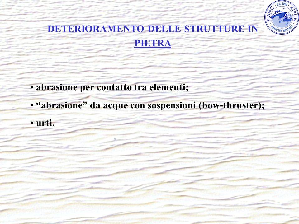 DETERIORAMENTO DELLE STRUTTURE IN PIETRA