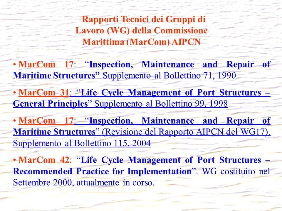 Rapporti Tecnici dei Gruppi di Lavoro (WG) della Commissione Marittima (MarCom) AIPCN
