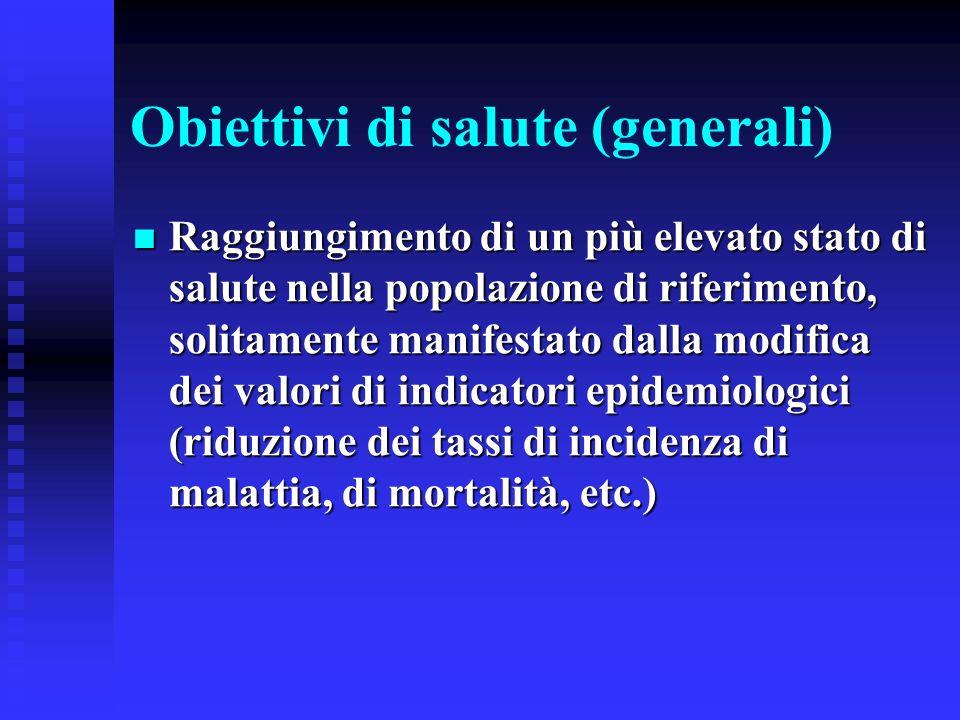 Obiettivi di salute (generali)