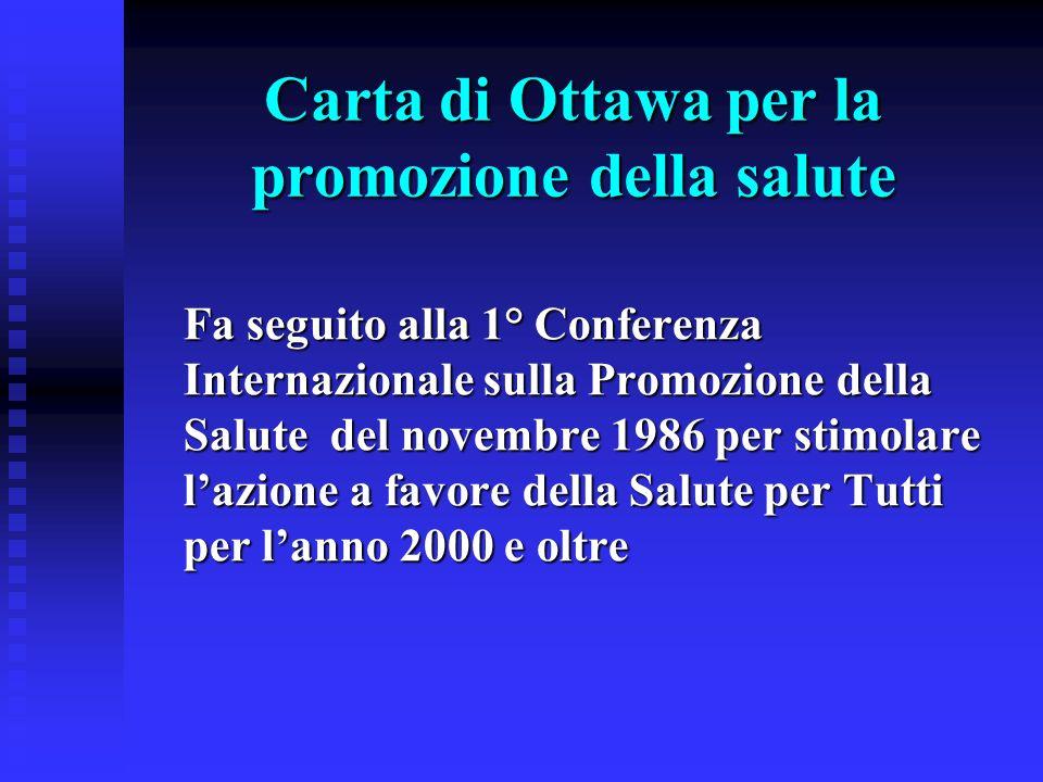 Carta di Ottawa per la promozione della salute