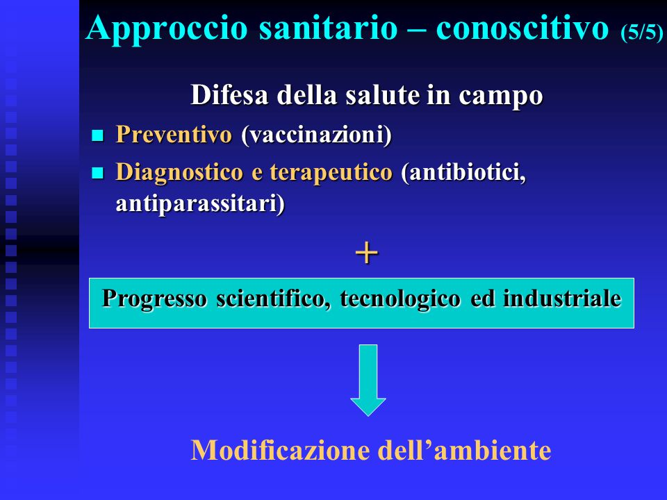 Approccio sanitario – conoscitivo (5/5)