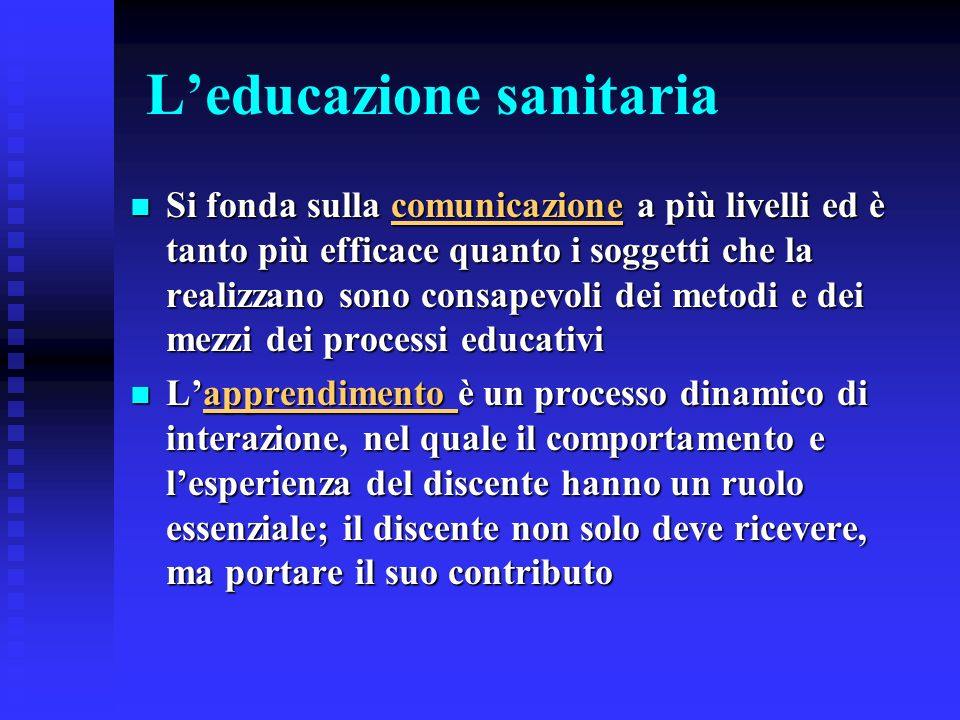 L'educazione sanitaria