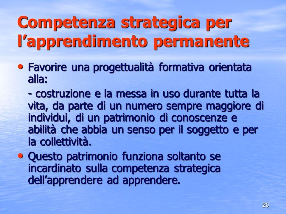 Competenza strategica per l'apprendimento permanente