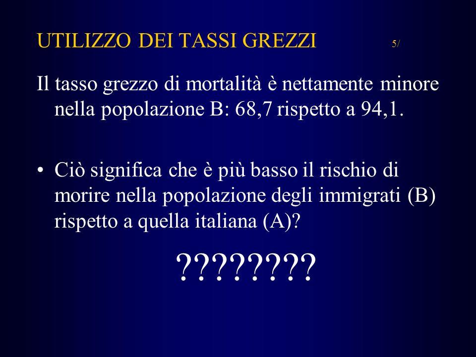 UTILIZZO DEI TASSI GREZZI 5/