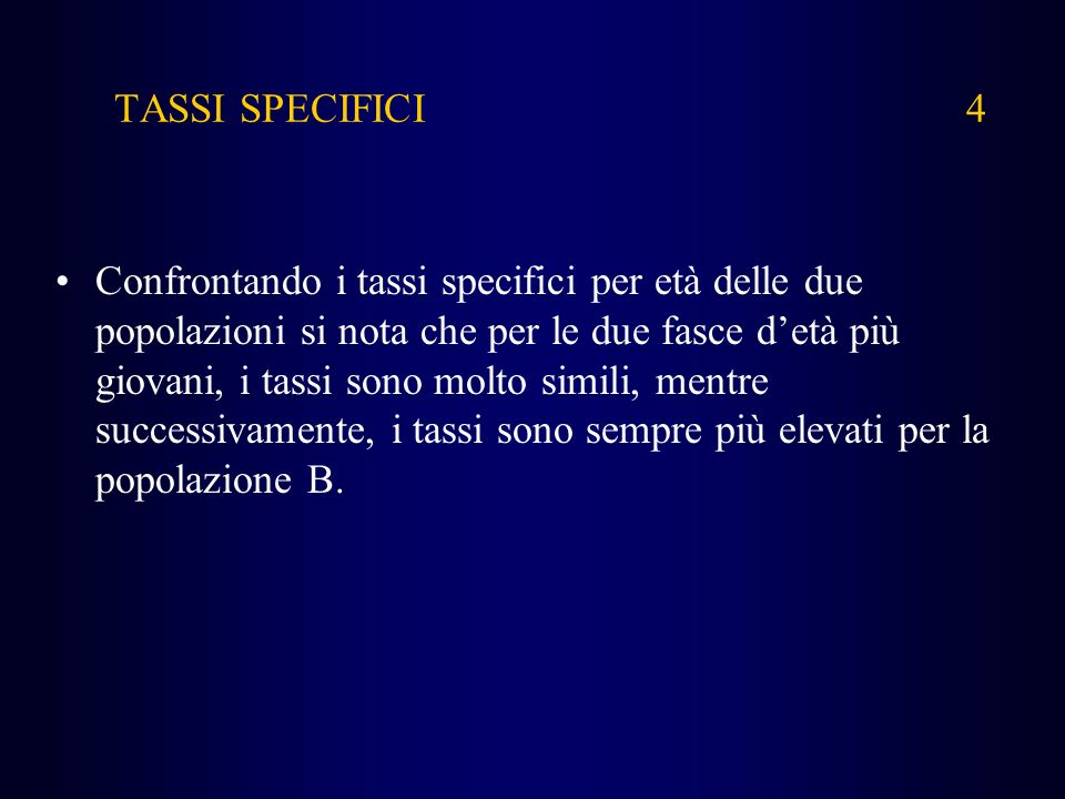 TASSI SPECIFICI 4