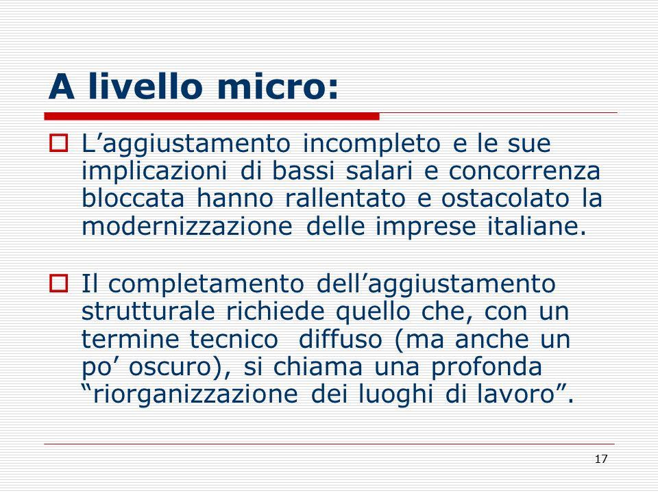 A livello micro: