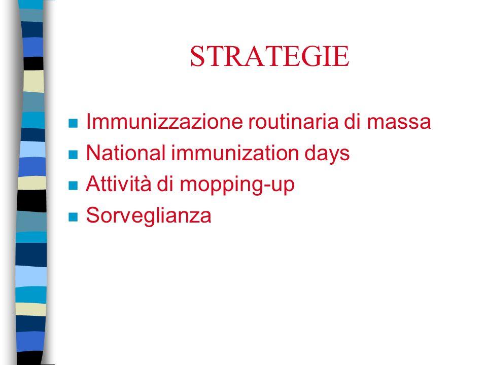 STRATEGIE Immunizzazione routinaria di massa