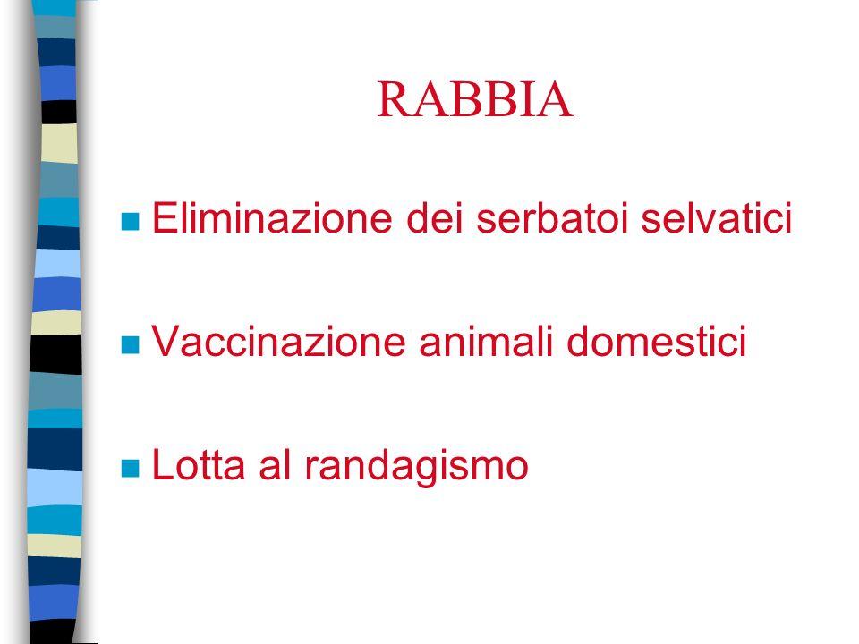 RABBIA Eliminazione dei serbatoi selvatici