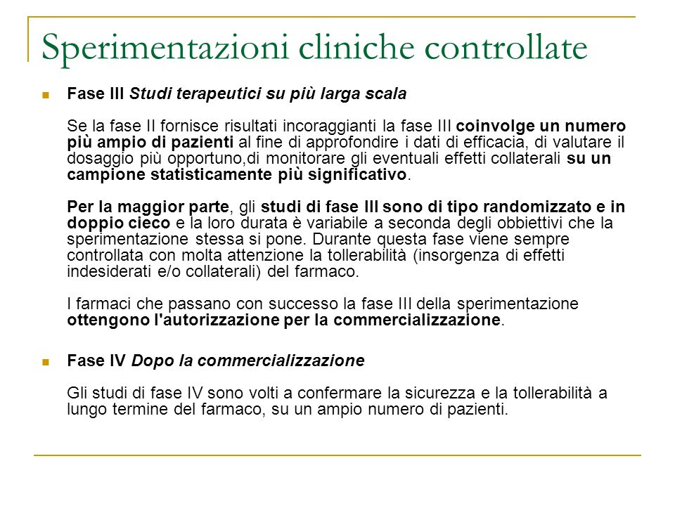 Sperimentazioni cliniche controllate