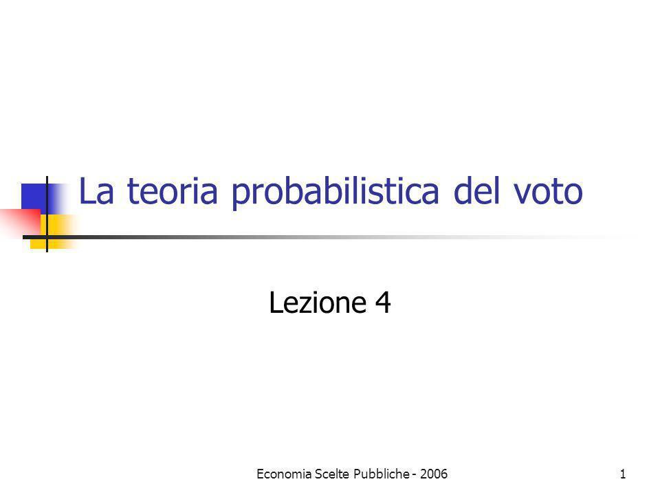 La teoria probabilistica del voto