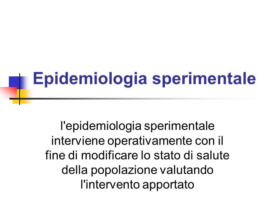 Epidemiologia sperimentale