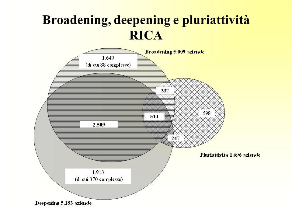Broadening, deepening e pluriattività RICA