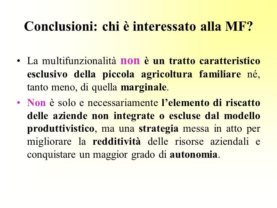 Conclusioni: chi è interessato alla MF