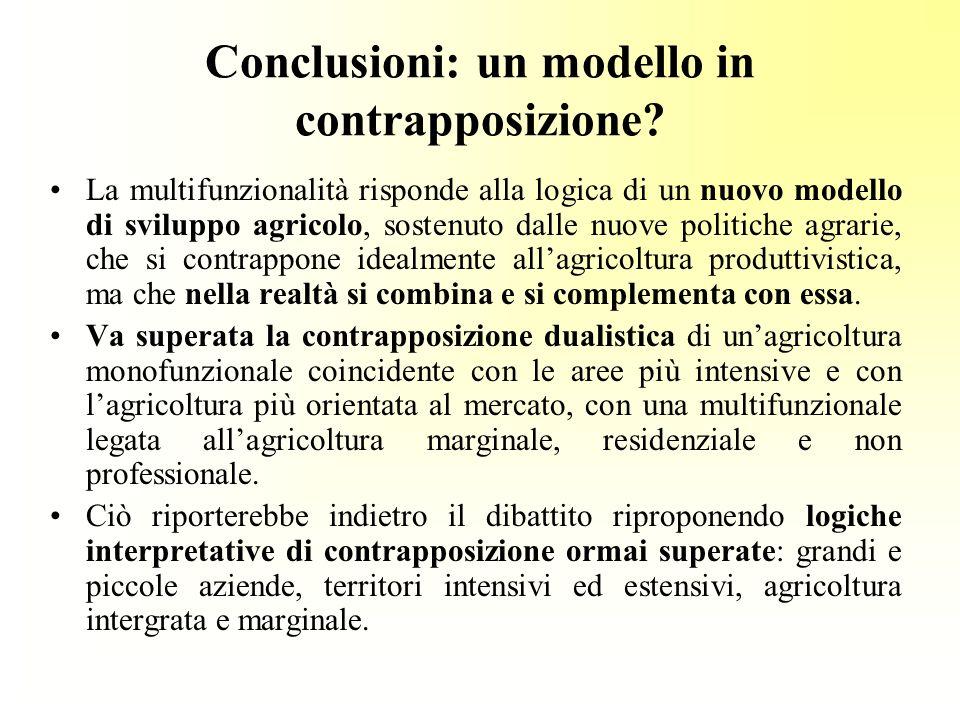 Conclusioni: un modello in contrapposizione