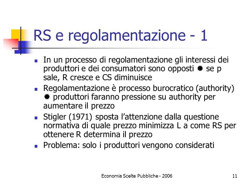 RS e regolamentazione - 1