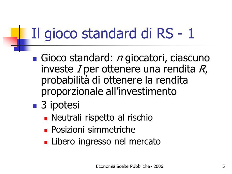 Il gioco standard di RS - 1