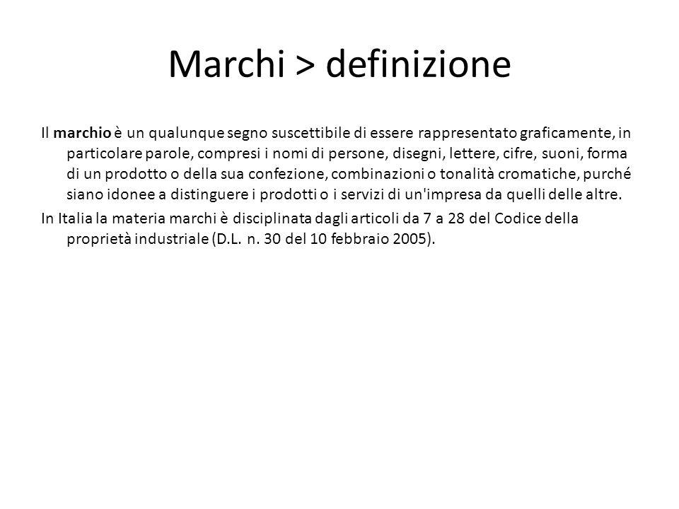 Marchi > definizione
