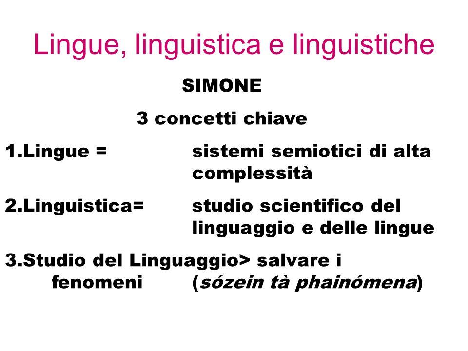 Lingue, linguistica e linguistiche