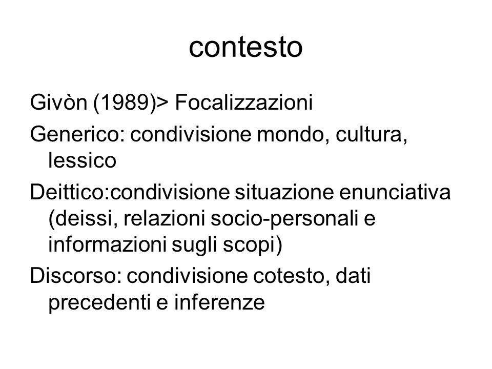 contesto Givòn (1989)> Focalizzazioni